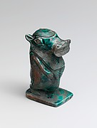 Magical Jar in the shape of a Hippopotamus deity