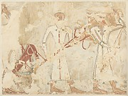 Syrians Bringing an Ingot and a Chariot, tomb of Rekhmire