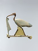 Inlay depicting Thoth as the ibis with a maat feather