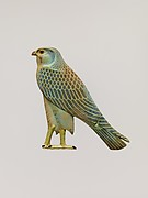 Inlay in the form of the Horus falcon