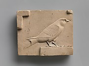 Relief plaque with a swallow