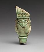 Bat / Hathor emblem from a sistrum