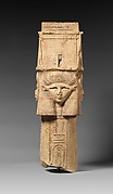 Column with Hathor-emblem capital and names of Nectanebo I on the shaft