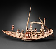Model Sailing Boat Transporting a Mummy