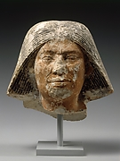Head of a statue of an older man
