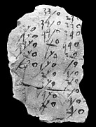 Hieratic ostracon with one column of inscriptions