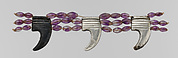 Anklet, Reconstructed Using Claw Pendants and Barrel Beads