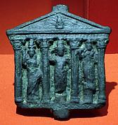 Plaque representing a Greco-Roman type temple with Corinthian columns