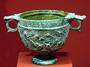 Skyphos (footed wine-cup) with laurel sprays on the body