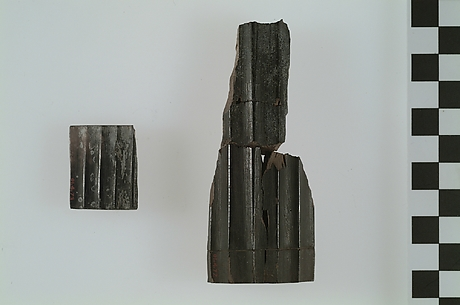 Fragment of burned ivory furniture