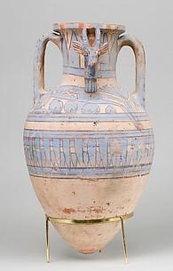 Blue-Painted Ibex Amphora from Malqata