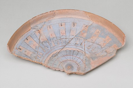 Blue-Painted Dish from Malqata