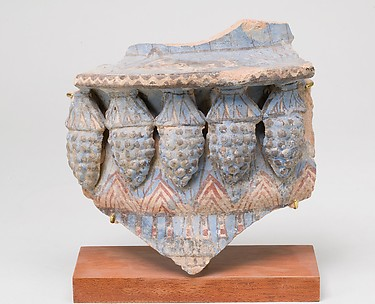 Blue-Painted Jar Fragment With Molded Decoration from Malqata