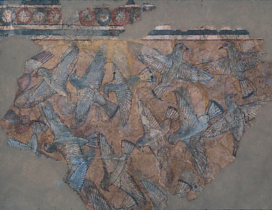 Ceiling Fragment Depicting Birds from the Palace of Amenhotep III