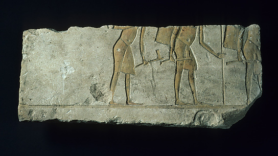 Relief with three soldiers