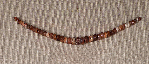 String of Carnelian Ball  Beads