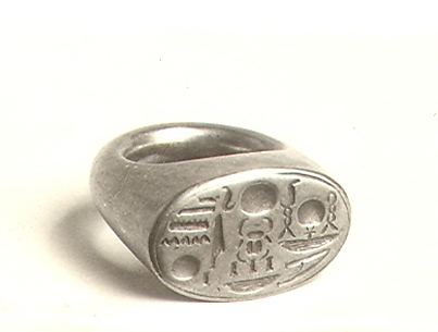 Signet Ring with Tutankhamun's Throne Name
