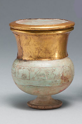 Wide-necked jar and lid naming Thutmose III
