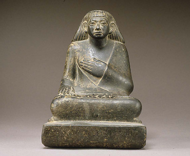 Statuette of Khnumhotep Receiving Offerings