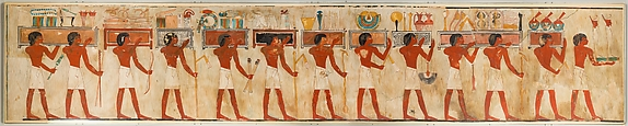 Offering Bearers in a Funerary Procession, Tomb of Rekhmire