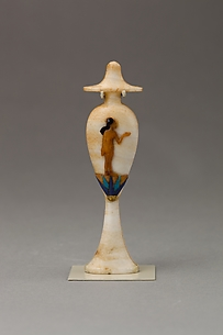 Perfume bottle in the shape of a hes-vase inlaid with the figure of a princess