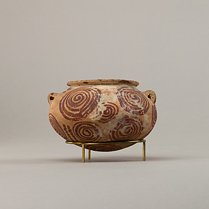 Decorated ware jar illustrating spirals