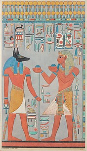 The King with Anubis, Tomb of Haremhab