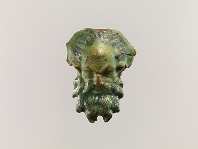Head of a satyr for attachment to a jug
