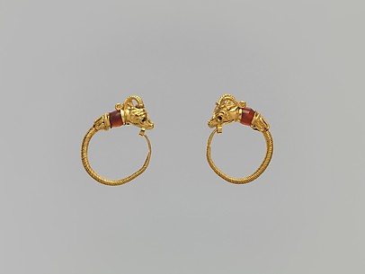 Gazelle-head earrings