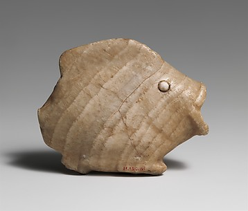 Ointment vase in the shape of a bulti fish