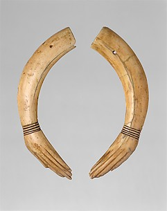 Pair of Ivory Clappers