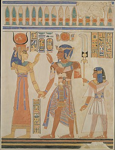Ramesses III and Prince Amenherkhepeshef before Hathor, Tomb of Amenherkhepeshef