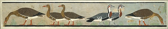 Facsimile Painting of Geese, Tomb of Nefermaat and Itet