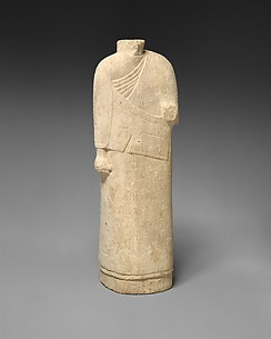 Incomplete figure in draped costume