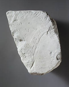 Relief fragment: foreigner with feather in his hair and Nubian