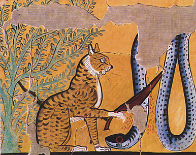 Cat Killing a Serpent, Tomb of Sennedjem