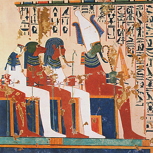 Osiris and the Four Sons of Horus, Tomb of Nebamun and Ipuky