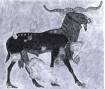 Detail of a Ram, Tomb of Khnumhotep