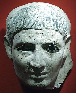 Mask of a man who wore a striped headcloth