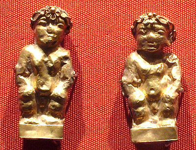 Pendant: Eros (?) wearing diadem with rosette over the forehead