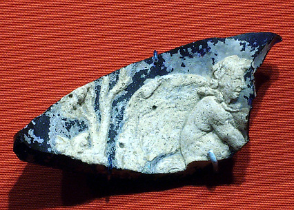 Cameo fragment with a satyr