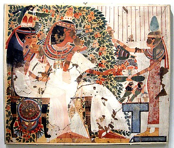 Userhat and Wife Receiving Offerings, Tomb of Userhat