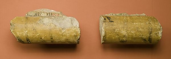 Fragment of painted torus molding from the shrine of a queen of Mentuhotep II
