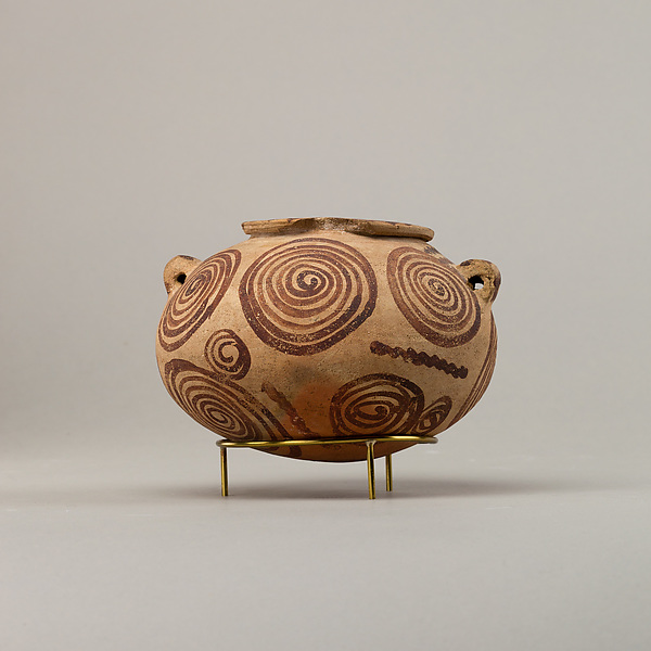Decorated ware bowl illustratiing spirals
