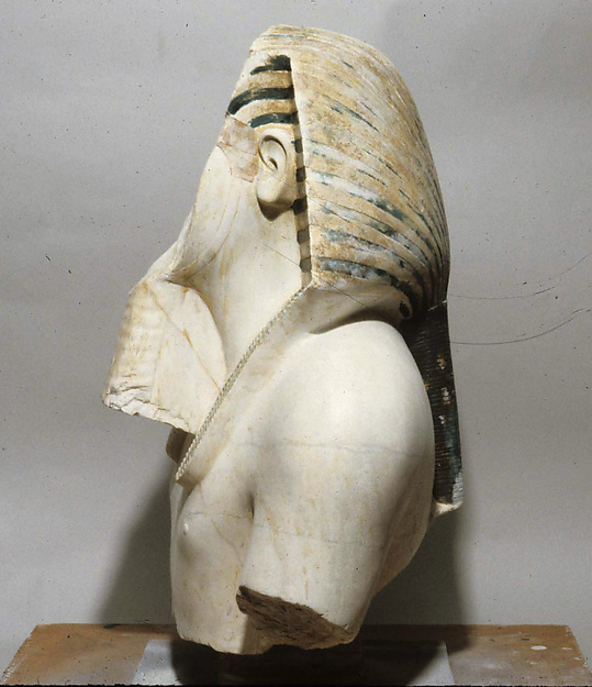 Upper part of a statue of Thutmose III