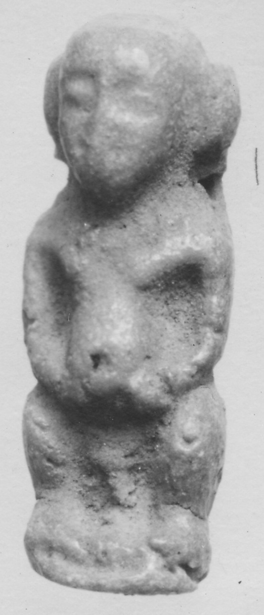 "Amulet of the protective dwarf god (called ""pataikos"" by Herodotus)"