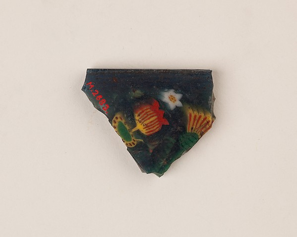 Inlay fragment, millefiori