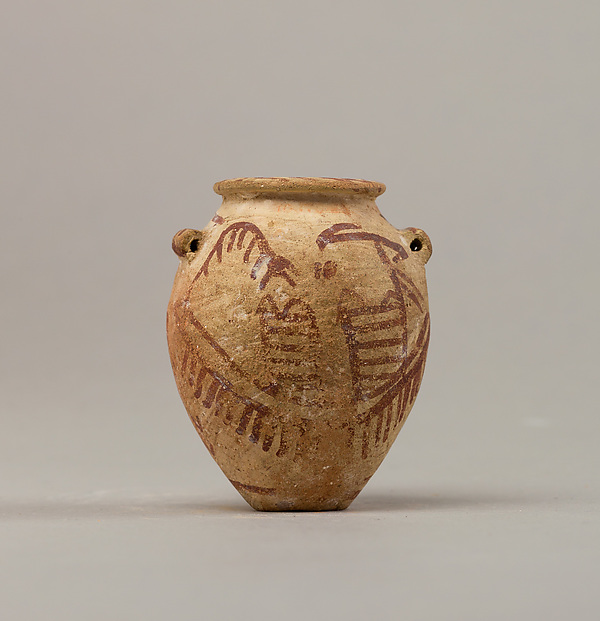 Decorated ware jar illustrating two boats