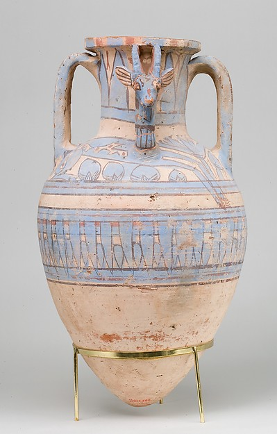Blue-Painted Ibex Amphora from Malqata