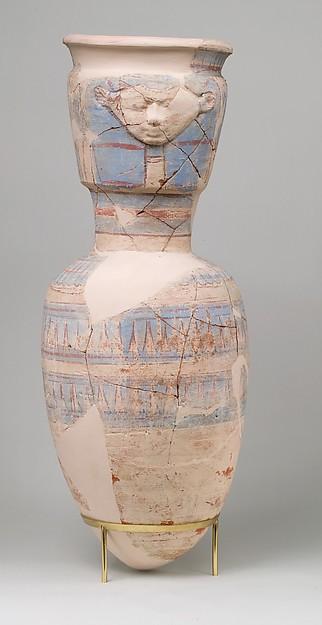 Storage Jar Embossed with the Hathor Emblem